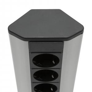 Distribuitor de colţ 5 x 250V, 16A / 2 x USB, 2,1A [3]