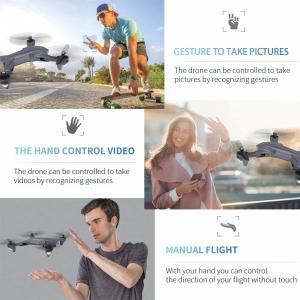 Drona Visuo XS816, Camera 4K cu transmisie pe telefon, Control gesturi, Altitudine automata, Pozitionare optica [3]