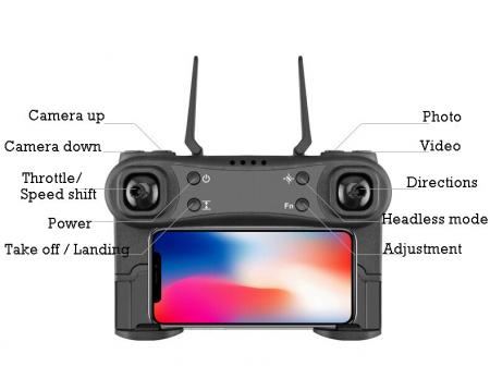 Drona Z11 Air Drone, Camera 4K, Pozitionare Optica,17 minute de zbor,  Altitudine Automata, Transmisie pe Telefon [6]
