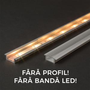 Ecran transparent pt. profil aluminiu LED - 1000 mm0