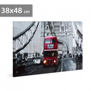"FAMILY POUND - Tablou cu LED - ""London Bus"", 2 x AA, 38 x 48 cm0"