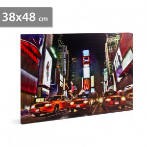 "Tablou cu LED - ""Times Square"", 2 x AA, 38 x 48 cm0"