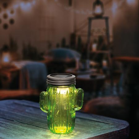 Garden of Eden - Lampă solară LED - model cactus - 30 mm, alb rece1