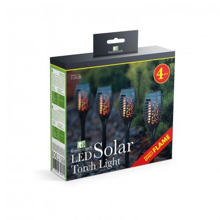 Garden of Eden - Lampă solară LED, model imitaţie de flacără - negru - material plastic- 480 x 75 mm4