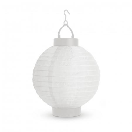 Garden of Eden - Lampion solar cu LED alb, alb rece 21 cm0