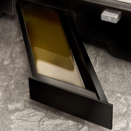 Gratar electric Cecotec Rock nGrill Smart, 2000 W, placi ceramica RockStone 28.5x22.5 cm, deschidere 180 grade, 5 programe automate, Inox Negru [2]