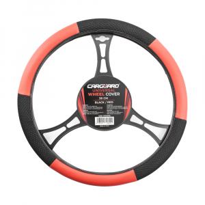 CARGUARD - Husă volan auto - negru / roșu0