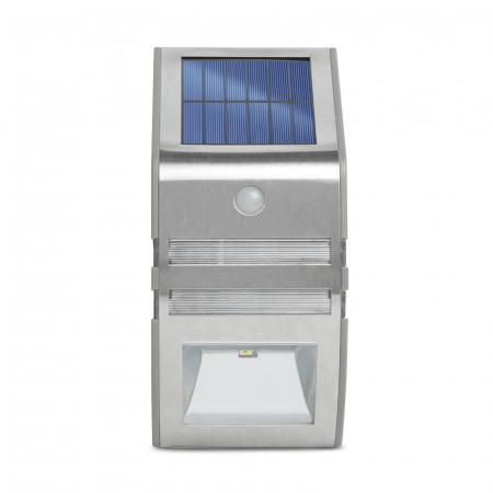 Lampă solară LED - cu senzor de mişcare - alb rece - 170 x 78 mm3