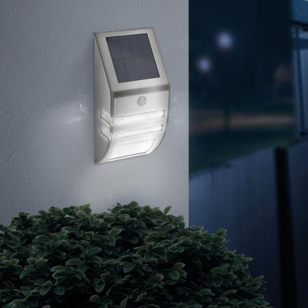 Lampă solară LED - cu senzor de mişcare - alb rece - 170 x 78 mm1