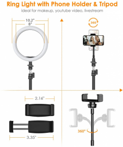 Lampa foto circulara LED BlitzWof BW-SL2 Make up Profesionala, Ring Light 120 Leduri cu Lumina Rece Calda1