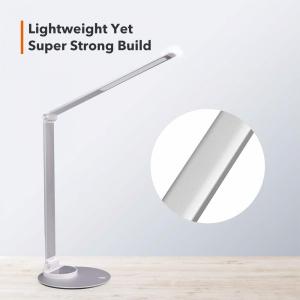 Lampa de birou cu LED TaoTronics TT DL66 cu incarcare USB si 6 niveluri de luminozitate Silver1