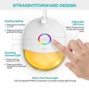 Lampa de birou LED TaoTronics TT DL070 control Touch  Protectie ochi  7W  Acumulator incorporat6