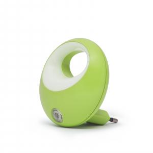 Lampa de veghe cu LED si senzor de lumina - verde [1]