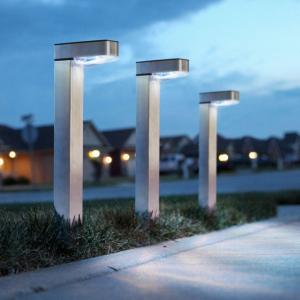 Lampa solara de gradina LED alb rece - Satinat - Metal1