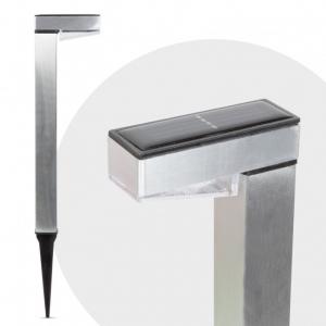 Lampa solara de gradina LED alb rece - Satinat - Metal0