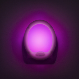 "Lumina de veghe LED cu colori alternante Premium ""Smooth"" - 7 LED, 8x10cm0"