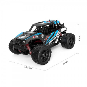 Masina cu Telecomanda Linxtech HS18311 Monster Truck de mare viteza, Off-Road Racing Tractiune 4X4, 36Km h Scala 1:18 - Albastru6