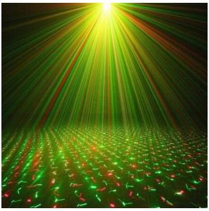 Mini proiector laser rosu / verde cu efecte reglabile2