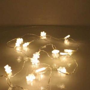 Perdea luminoasa tip turturi cu fulg de nea 90 LED-uri albe lumina calda cablu transparent WELL [0]