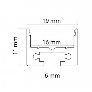 Profil aluminiu  benzi LED, 19x11 mm, 1m [2]