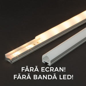 Profil aluminiu  benzi LED, 19x11 mm, 1m [0]