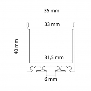 Profil aluminiu  benzi LED, 35x40 mm, 1m [2]