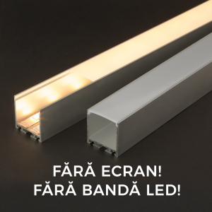 Profil aluminiu  benzi LED, 35x40 mm, 1m [0]