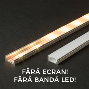Profil U din aluminiu benzi LED 1000x17x8mm [0]