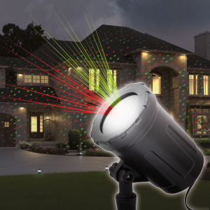Proiector decorativ laser - cu tarus, verde/rosu - IP44 - 240V [0]