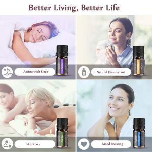Set 12 uleiuri esentiale Anjou 12x5ml puritate 100% pentru aromaterapie [6]