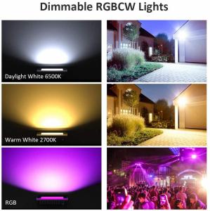 Set 2 lampi de podea LED RGB Novostela, Smart, Wifi, Alexa,Google , 20W, Exterior IP66 waterproof6