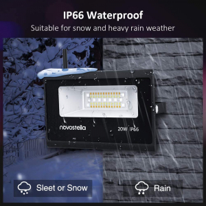 Set 2 lampi de podea LED RGB Novostela, Smart, Wifi, Alexa,Google , 20W, Exterior IP66 waterproof4