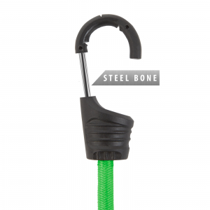 Set de cordeline de fixare, chingi cauciuc profesionale - Verde - 90 cm x 8 mm - 2 buc. / pachet [3]