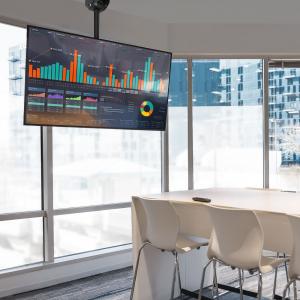 """Suport-consolă TV cu fixare pe tavan 360° - 32""""-65""""3"""