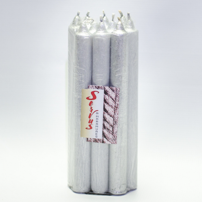 Set 10 Lumanari Argintii, drepte 2,2*22 cm 4