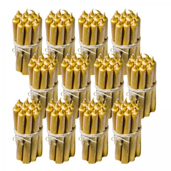 120 Lumanari Aurii drepte 2,2*22cm 1