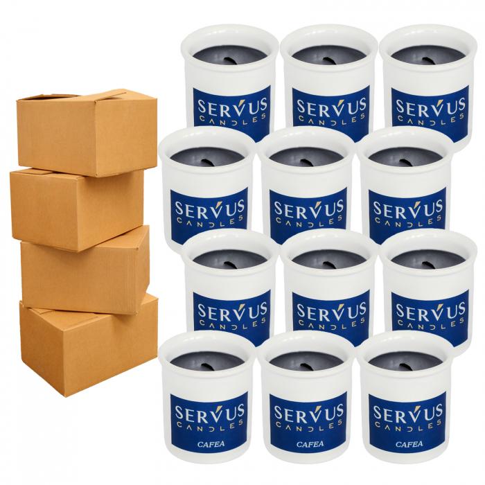 48 Lumanari Parfumate Cafea cu fitil din lemn [0]