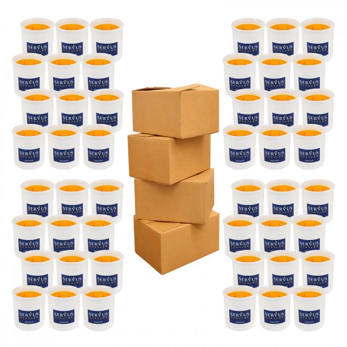 48 Lumanari Parfumate Orange cu 2 fitiluri din lemn 1
