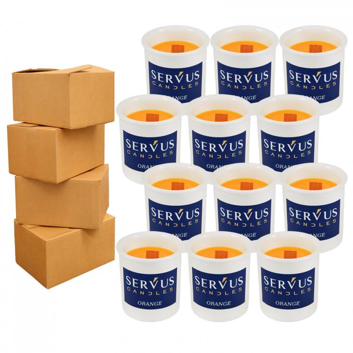 48 Lumanari Parfumate Orange cu fitil din lemn 0