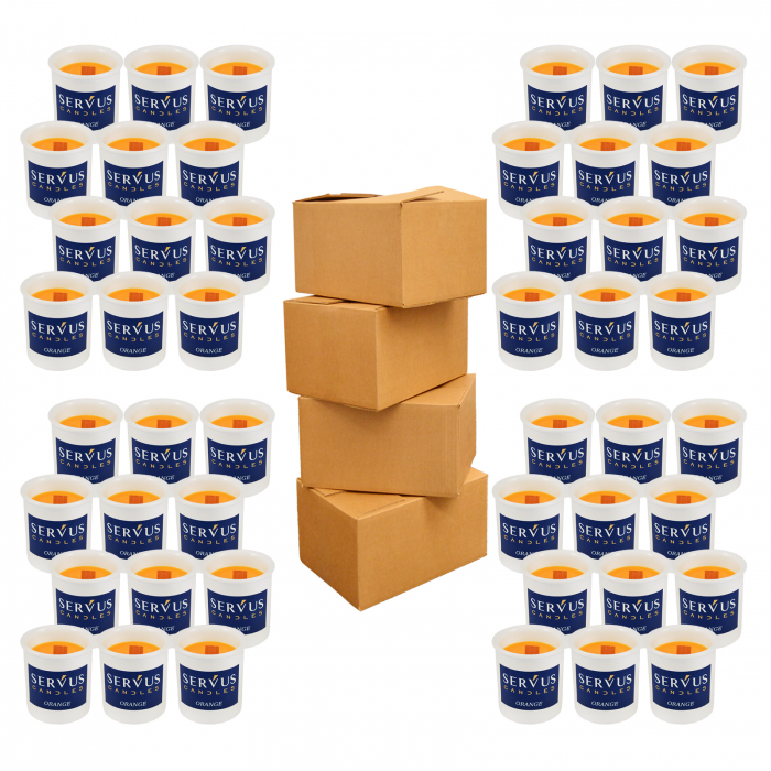 48 Lumanari Parfumate Orange cu fitil din lemn 1