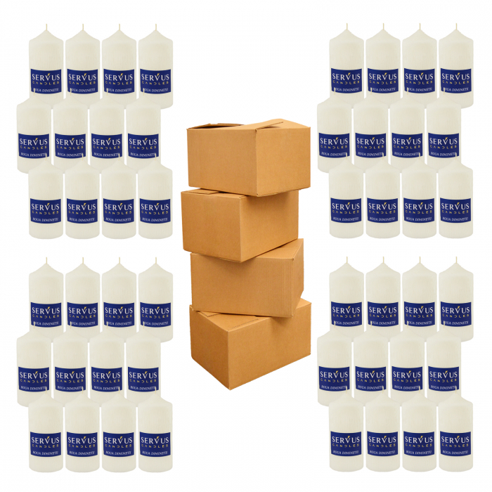48 Lumanari Parfumate Roua Diminetii cilindru 13cm 1