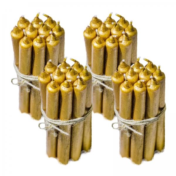 40 Lumanari Aurii drepte 2,2*22cm 1