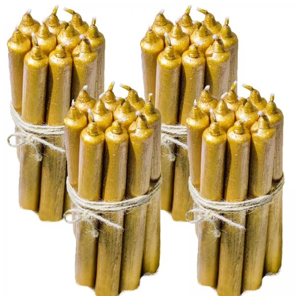 40 Lumanari Aurii drepte 2,2*22cm 0