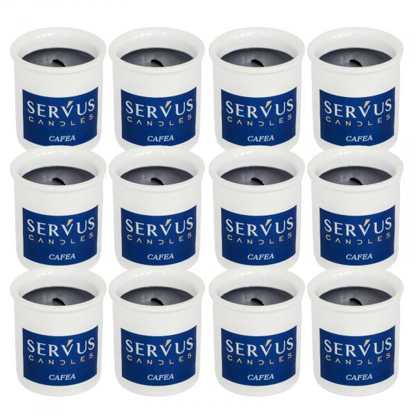 Bax 12 Lumanari Parfumate Cafea cu fitil din lemn [0]