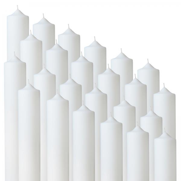 Bax 24 buc Lumanari Nunta / Botez , H= 35 cm / D= 4,5 cm 0