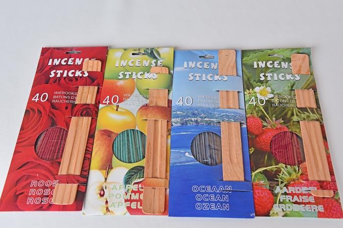 Set Aromaterapia de 40 betisoare parfumate + suport de lemn. 2