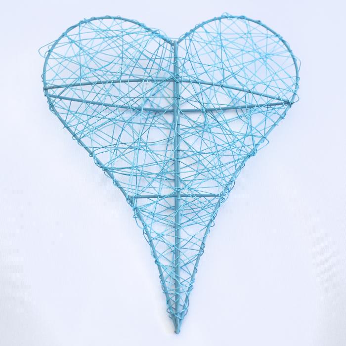 Inima decorativa mare, albastra 0