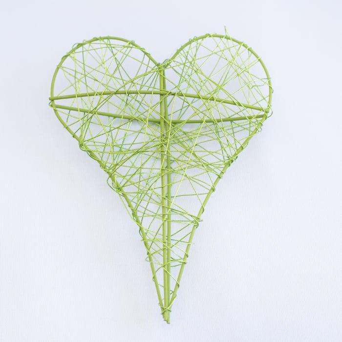Inima decorativa mica, verde 0