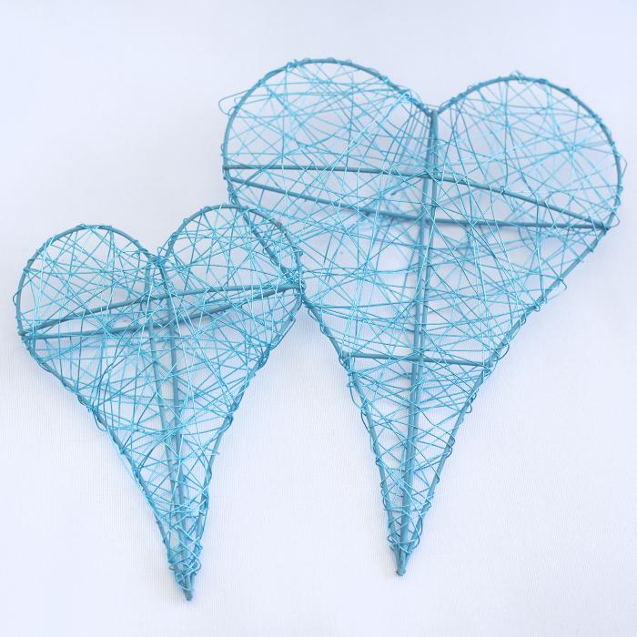 Inima decorativa mare, albastra 1