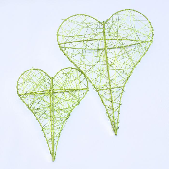 Inima decorativa mica, verde 1